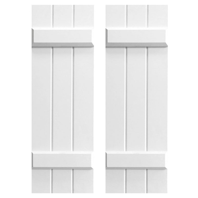Board and Batten Composite PVC Exterior Shutters