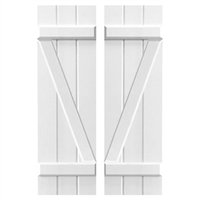 Z-Batten Board and Batten Composite PVC Shutter