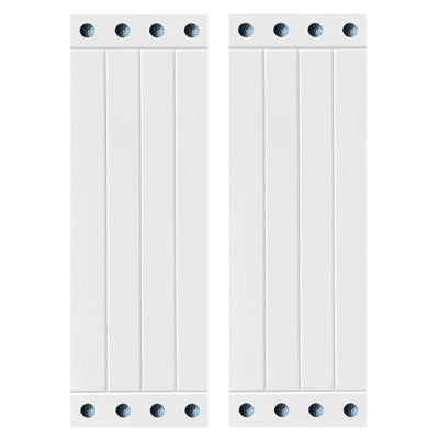 4 board and batten compostie shutter pair white