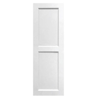 White Unpainted Sample Flat Panel Composite PVC Exterior Shutter