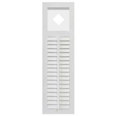 Sample Louver Shutter with Cutout | Forever Shutters