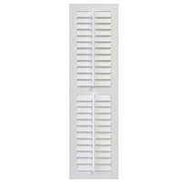 White Unpainted Sample Louver Composite PVC Exterior Shutter with Fixed Tilt Rod