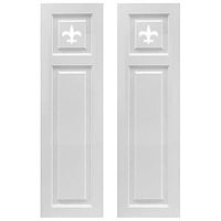 transom top raised panel composite pvc exterior shutter pair white unpainted