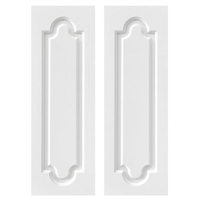 raised panel pvc composite exterior shutter pair white unpainted