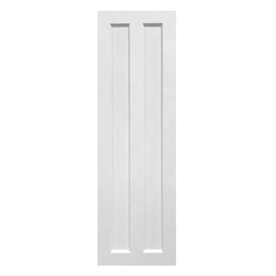 Sample Split Panel Composite PVC Exterior Shutter White Unpainted