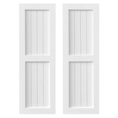 Traditional Wainscot PVC Exterior Shutters