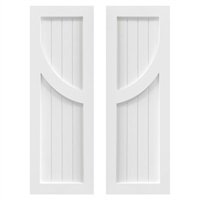 Curved Mullion Wainscot PVC Exterior Shutters