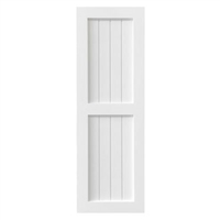 Sample Traditional Wainscot Composite PVC Exterior Shutter White Unpainted