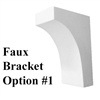 Faux Window Box Bracket, Style 1