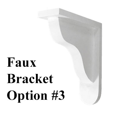 Faux Window Box Bracket, Style 3