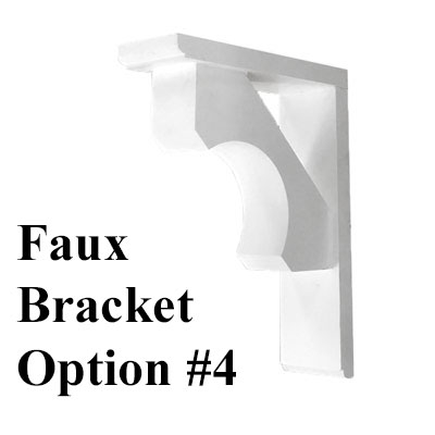 Faux Window Box Bracket, Style 4