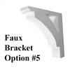 Faux Window Box Bracket, Style 5