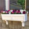 "36"" Tapered Panel PVC Window Boxes - No Rot with 2 FREE Brackets"