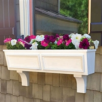 "24"" Tapered Panel PVC Window Boxes - No Rot with 2 FREE Brackets"