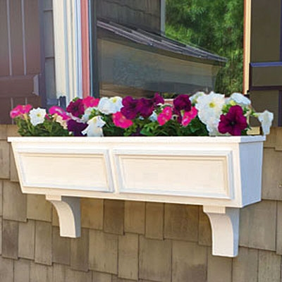 "54"" Tapered Panel PVC Window Boxes - No Rot"