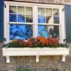 "108"" Tapered Panel PVC Window Boxes - No Rot"