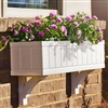"30"" Boston Beadboard Self Watering PVC Window Box"