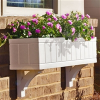 "24"" Boston Beadboard Self Watering PVC Window Box"