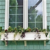 "72"" Self Watering Charleston PVC Window Box - No Rot with 3 FREE Brackets"
