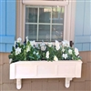 "48"" Daisy No Rot Self Watering PVC Window Box With Vertical, Horizontal, Corner Trim and 2 FREE Brackets"