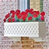"72"" Lattice Self Watering PVC Window Box"