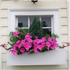 "48"" Modern Self Watering PVC Window Box"