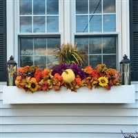 "120"" Modern Self Watering PVC Window Box"