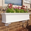"48"" Traditional PVC Window Box - No Rot with 2 FREE Brackets"