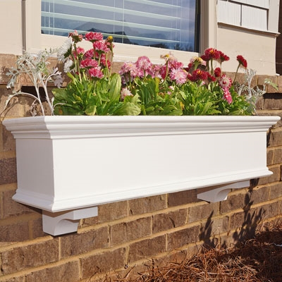 "30"" Traditional PVC Window Boxes - No Rot with 2 FREE Brackets"