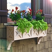 "64"" Wolfgang German Bavarian Style Window Box - No Rot with 3 FREE Brackets"