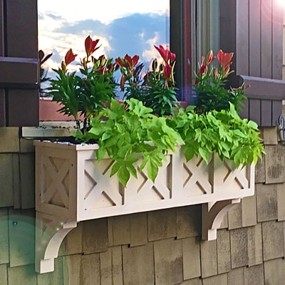"88"" Wolfgang German Bavarian Style Window Box - No Rot"