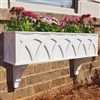 "36"" X Pattern PVC Window Box Planter/Flower Box with 2 FREE Brackets"