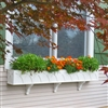 "72"" X Pattern PVC Window Box Planter/Flower Box with 3 FREE Brackets"