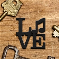 LOVE Music Keychain