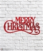 Merry Christmas Vintage Style Metal Sign