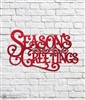 Season's Greetings Vintage Style Metal Sign