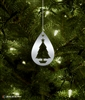 Metal Christmas Tree Silhouette Ornament