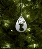 Metal Deer Silhouette Tree Ornament