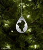 Metal Santa Silhouette Tree Ornament