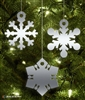 Metal Snowflake Tree Ornament Bundle (3 included)