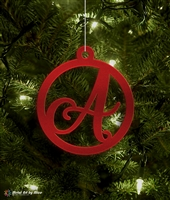 Metal Initial Monogram Tree Ornament