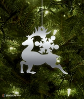 Metal Reindeer Tree Ornament
