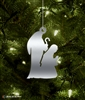 Metal Mary & Joseph Tree Ornament