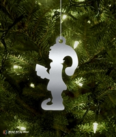 Metal Elf Girl Tree Ornament