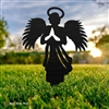 Angel with Wings Metal Yard Ornament