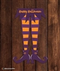 Witch Legs Metal Sign