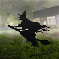 Flying Witch Yard Ornament