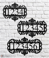 Victorian Style House Number Sign
