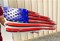 Ripped American Flag 3D