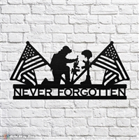 "Metal ""Never Forgotten"" Sign"